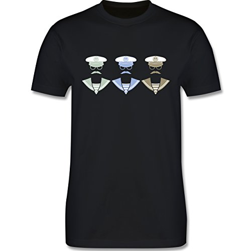 Schiffe - 3 Matrosen - Herren Premium T-Shirt Schwarz