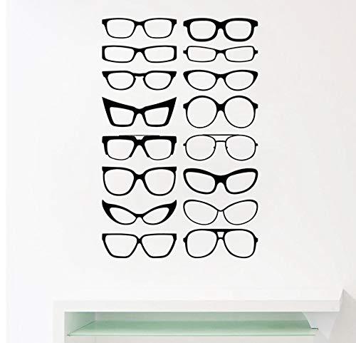 Brillen Specs Rahmen Vinyl Wandaufkleber Brillen Rahmen Kunst Decals Optische Shop Optiker Büro Fenster Tür Dekor 105 * 69 Cm