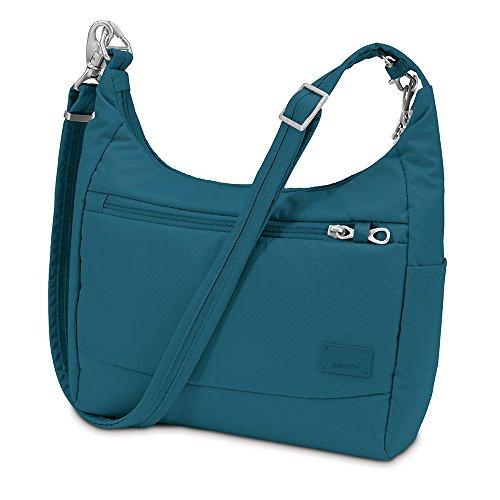 pacsafe-citysafe-cs100-reise-handtasche-teal-bleue
