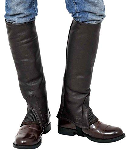 Riders Trend, Ghette da equitazione al ginocchio, in pelle bovina pieno fiore Marrone (Braun - Braun - Chocolate Brown)