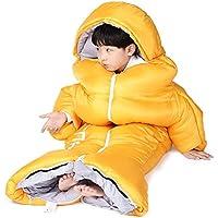 YTBLF Saco de Dormir para niños al Aire Libre, antipatazos Interiores cálidos y Gruesos,