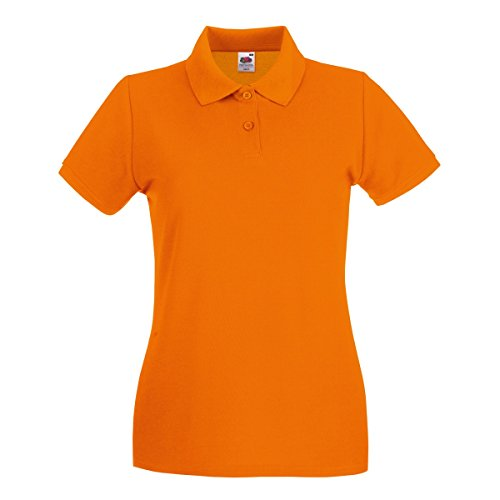 Fruit of the Loom Premium Polo Lady-Fit - Farbe: Orange - Größe: M -