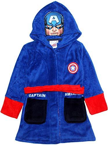 Marvel Avengers Boys Black Pantha y Capitán América Vestidor Azul Azul 7-8 Años