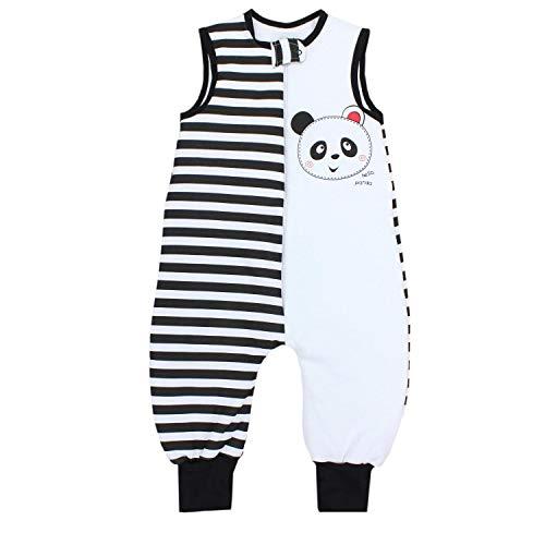 TupTam Baby Unisex Winter Schlafsack mit Beinen, Farbe: Panda, Größe: 80-86