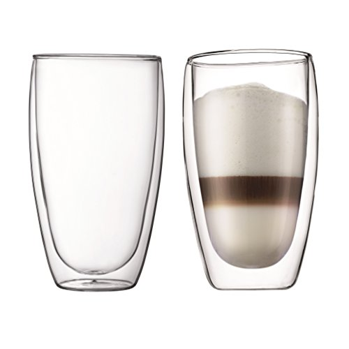 Bodumpavina EsPressogläser-Set, Doppelwandig, Isoliert, Mundgeblasen, 2-teiliger, 0,45 L, transparent