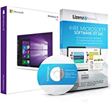 Original Microsoft® Windows 10 Professional 64bit - aktuellste Version mit allen Updates. DVD Box Lizenza PRO, Lizenzunterlagen, Zertifikat & Lizenzschlüssel