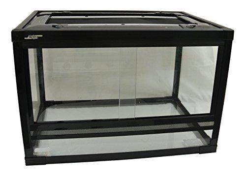 Lucky Reptile HT-64 Herp-Tarrium Glasterrarium mit Kunststoffrahmen, 60 x 40 x 40 cm