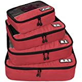 ECOSUSI Breathable Travel Packing Cubes, Small to Large 4-Bags Value Set, Length 10 to 17 inches, Fit 21 inches Carry on Suitcase