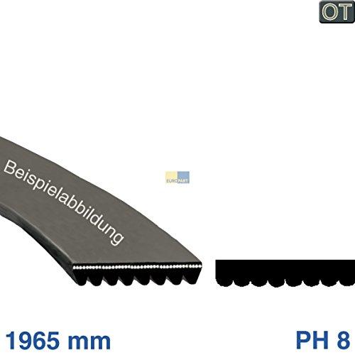 Courroie trapézoïdale multiple détendue 1965PH 8Sèche-linge Bosch Siemens Neff 657917