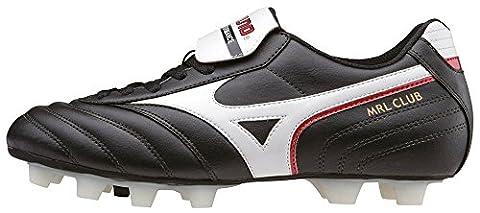 Mizuno Mrl Club Md, Chaussures de Football homme - Noir - Black (Black/White/Red), 45
