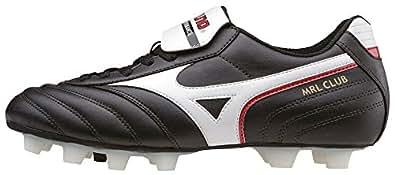 Mizuno Mrl Club Md, Men's Football Competition Shoes, Black (Black/White/Red), 10.5 UK (45 EU)