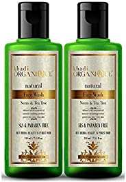 Neem and tea tree Face wash by khadi (pack of 2X210Ml Natural and chemical free face wash, anti bacterial and
