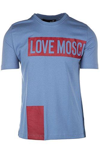 Love Moschino t-shirt maglia maniche corte girocollo uomo azzurro EU M (UK 38) M 4 732 15 M 3666 Y0