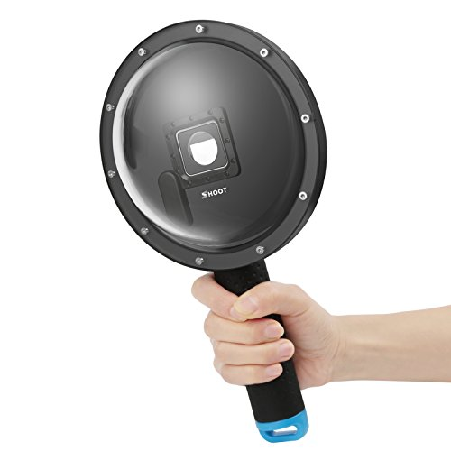 SHOOT Domeport 6 Zoll V1.5 Tauchen Unterwasser Kamera Dome Objektiv Dome Port für Gopro Hero 3+/4 Black Silver Kamera mit Externen Monitor Viewer LCD Bildschirm - Gopro Erweiterte Akku 3