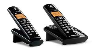 Motorola D412 Téléphone sans fil Duo DECT / GAP avec Répondeur Intégré Noir
