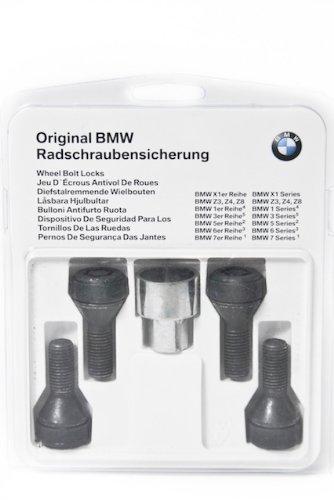 BMW Original Satz Radschraubensicherung M12x1,5 Chrom CR(VI) frei (alle E-xx Baureihen)