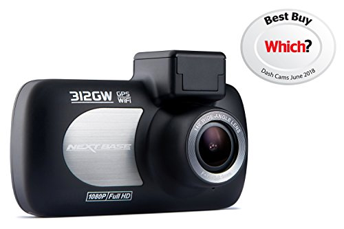 Nextbase 312GW Full 1080p HD In Car Dash Cam, Black, 87 x 58 x 19 mm (37mm inc lens)