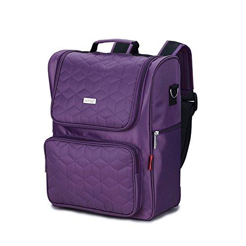 Windeltasche Rucksack wasserdicht Multi-Funktions-Large-Kapazität Mumie Tasche mütterlichen und Kind aus Rucksack, lila (Leistung Mumie)