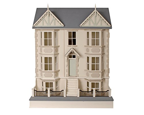Victorian Dolls House & Basement 1:12 Ready to Assemble Unpainted Flat Pack Kit