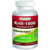 Best Naturals Krill Oil 1000 mg 30 Softgels
