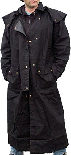 Preisvergleich Produktbild Staubmantel Duster Regenmantel schwarz S - 5XL Reitmantel (5XL)
