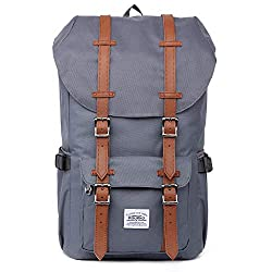 "KAUKKO Backpack Women Men Student 17 Inch Backpack for 15 ""Notebook Casual Daypacks Student Bag for Hiking 47 cm, 22.4 L"