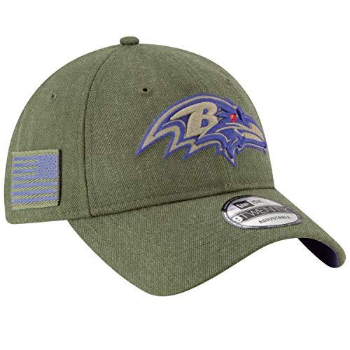 New Era Baltimore Ravens 9twenty Adjustable Cap On Field 2018 Salute to Service Green - One-Size - Cap Era Ravens New