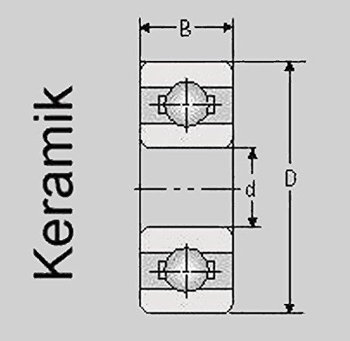 Preisvergleich Produktbild Keramik Kugellager 685 ZZ/C, 5x11x5, 685 ZZ/C