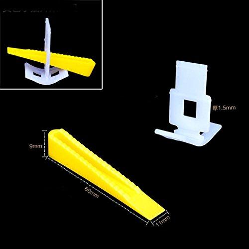 100 Tile Leveling System 100 Clips + 100 Keile Boden-Wand-Abstandhalter Aus Kunststoff Klein