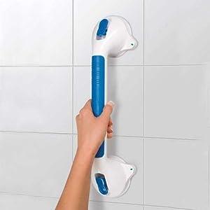 Marelight Aspiration solide Ultra Grip de salle de bain douche mural 40,6cm équilibrage de barre d'appui Barre d'appui à ventouses avec sécurité Indicators- offrant Plus de stabilité dans votre maison