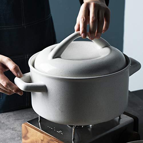 Zarlua Große Kapazität Keramik Auflauf Brei Suppe Verdickter Herd Haushalt 4L Stone Pot Gas Fire Pot