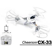 efaso CX-33W - FPV WiFi Tricopter Cheerson 2.4 GHz, 4-Kanal Tricopter mit 720p WIFI HD-Kamera, Höhenbarometer und automatischer Start- und Landefunktion