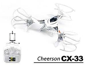 efaso FPV WiFi Tricopter Cheerson CX-33W - 2,4 GHz, 4-Kanal Tricopter mit 720pWIFI HD-Kamera, Höhenbarometer und automatischer Start- und Landefunktion