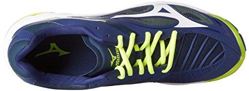 Mizuno Wave Lightning Z3, Chaussures de Volleyball Homme Multicolore (Bluedepths/white/safetyyellow)