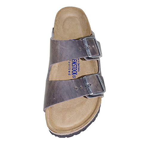 Birkenstock Arizona, Sandales Bout ouvert homme Grau (Oiled Iron)
