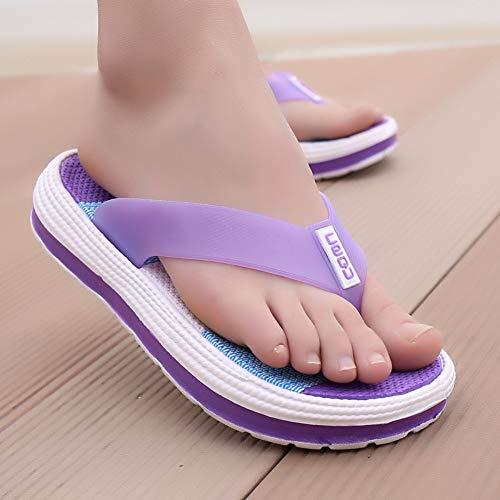 QIMITE Fascitis Plantar Verano Zapatillas Mujer Casual Duradero Masaje Flip Flops Sandalias de Playa...