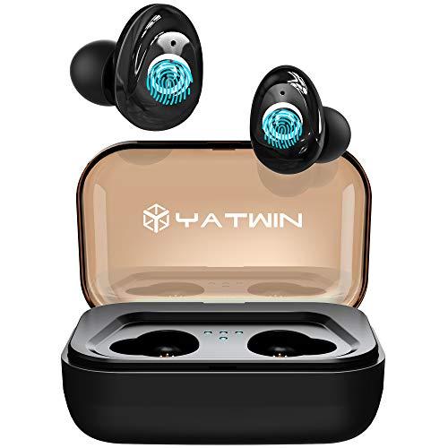 Bluetooth Kopfhörer in Ear V5.0, YATWIN Sport Kabellos/Wireless Kopfhörer mit Portable Ladebox 3000 mAh,135 Stunden Spielzeit, IPX5 Wasserdicht, Noise Cancelling Ohrhörer Für alle Bluetooth-Geräte thumbnail