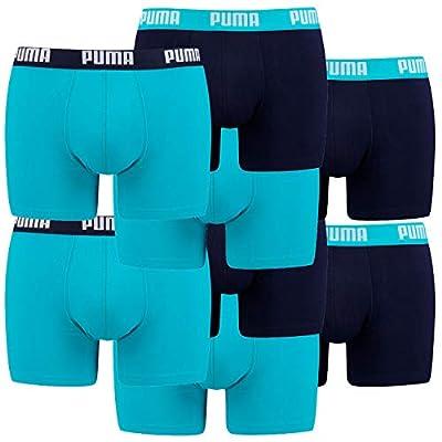 Puma Herren Basic Boxer Boxershort 8er Pack, Größe:XL, Farbe:Aqua/Blue (796)