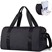 Ferdous Gym Bag, Sports Gym Bag with Shoes Compartment & Wet Pocket, Crossbody Bag, Large Capacity Sports