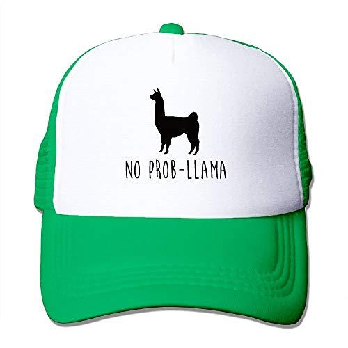 Imagen de no prob llama  de béisbol para adultos sombrero de camionero ajustable de malla para hombres mujeres