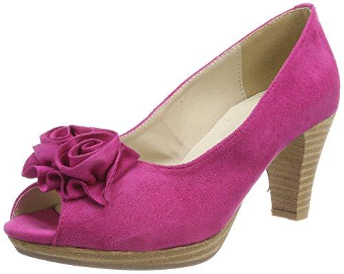 Andrea Conti Damen 0733109 Peeptoe Pumps, Pink (Pink), 36 EU