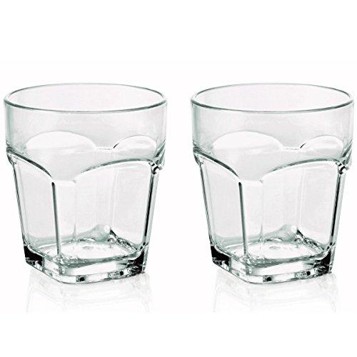 2 x bruchfestes Whiskyglas / Whiskeyglas ca.300 ml, Gläser Set aus hochwertigem Kunststoff (Polycarbonat), edle Gläser für Camping, Partys (wie echtes Glas)