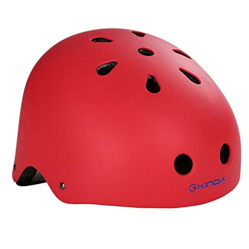 Abseilen Helm (Außen Safty Helm Klettern Sport Für Abseilen Rettungs Höhlenausrüstung - Rot, S)