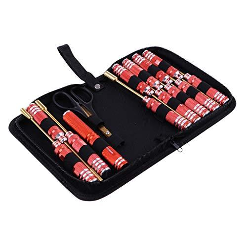 Tubayia 14er-Set Sechskant Schraubendreher Schraubenzieher Schere Werkzeug Zubehör für RC Auto (Rc-helikopter-werkzeug-kit)