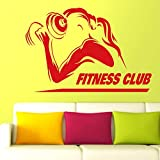 Hanteln Gym Name Aufkleber Mädchen Fitness Crossfit Aufkleber Bodybuilding Poster Vinyl Wall Decals...