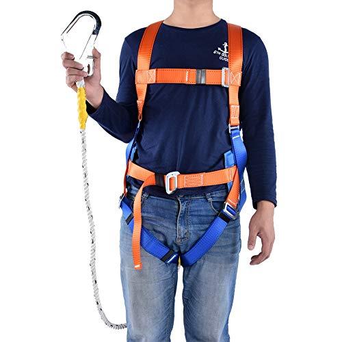 Kit di protezione anticaduta, Imbracature di sicurezza integrale Altezza caduta Protezione imbracatura Lavoro aereo Protezione anticaduta Cintura di sicurezza imbracatura regolabile con gancio