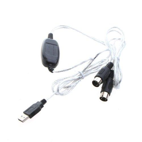 Kingzer 10piezas mayorista MIDI USB interfaz convertidor de cable adaptador para teclado musical PC