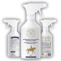 C&G Pets   Horse Super Shine Detangling Finish Spray   Dust Repelling Coat Conditioner Natural Ingredients   Protects Mane Tail Natural Shine Quick Grooming Detangler Hair Skin Nourishment (500ML)