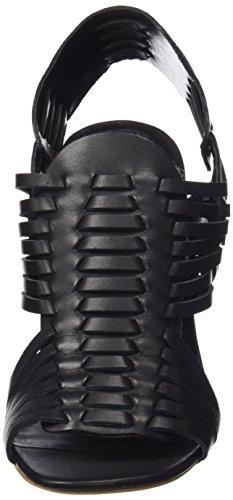 Steve Madden sutton, Sandali donna Nero (black leather)