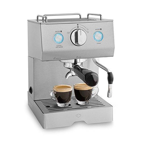 Edelstahl Espressomaschine Emilia (1140 Watt) von Springlane Kitchen leistungsstarke...
